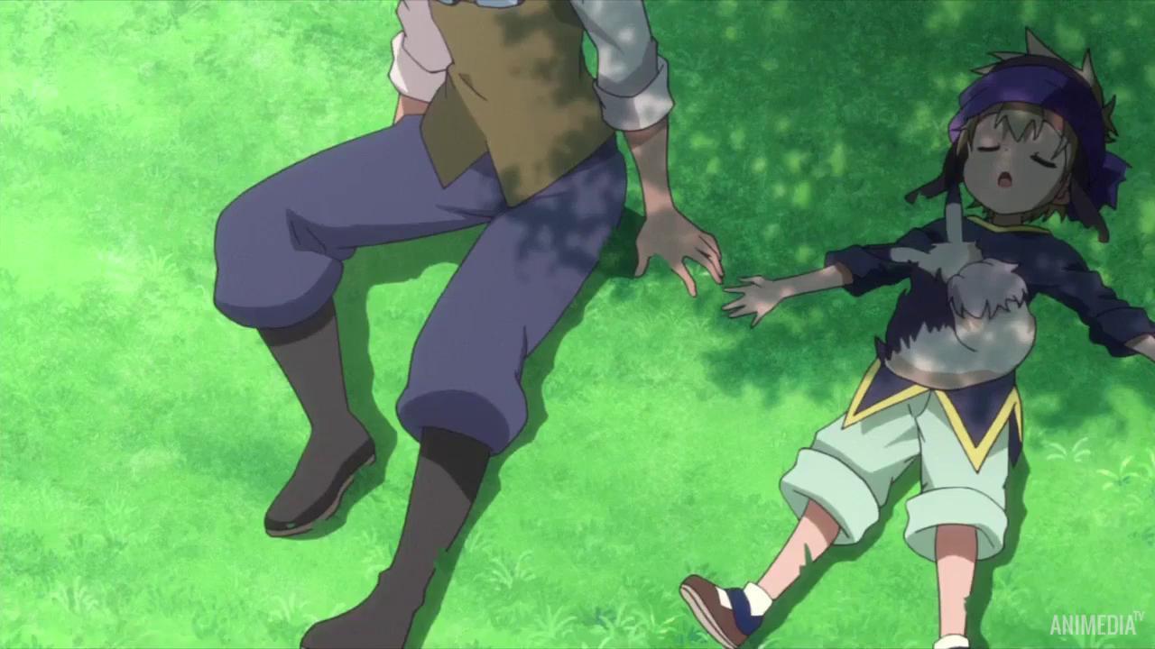 Скриншот *История Мерк: Равнодушный мальчик и девочка в бутылке / Merc Storia: Mukiryoku Shounen to Bin no Naka no Shoujo [Сезон 1, Серия 1-12 из 12] 2018*